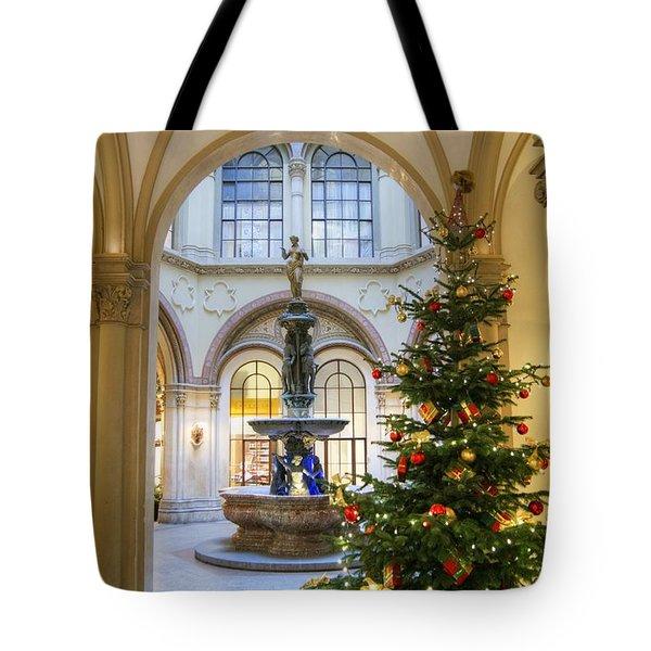 Christmas Tree In Ferstel Passage Vienna Tote Bag