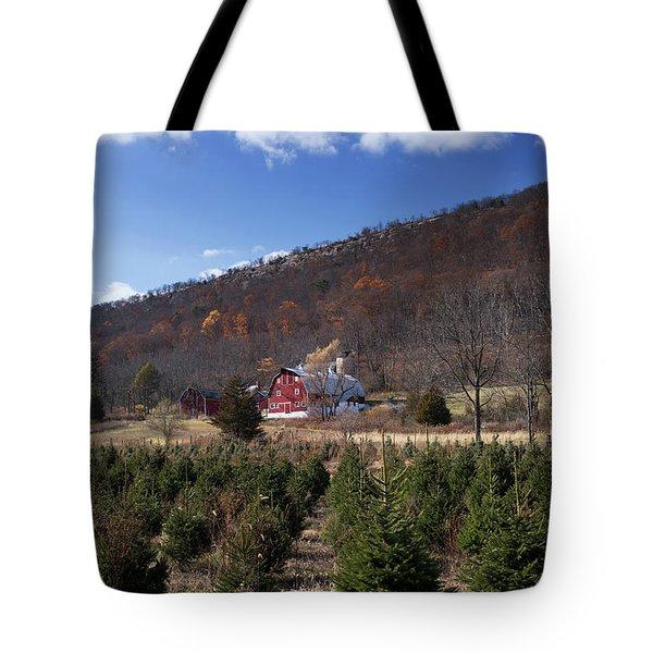 Christmas Tree Shopping Tote Bag by Nicki McManus