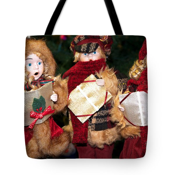Tote Bag featuring the photograph Christmas Trio by Vinnie Oakes