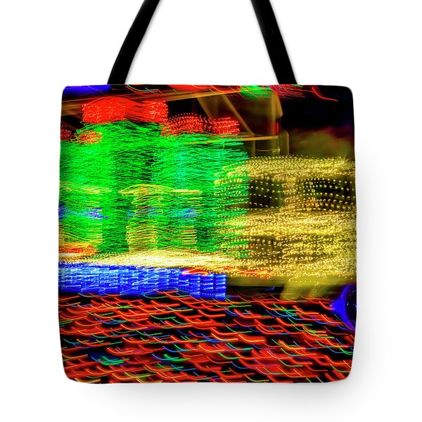 Christmas Truck Abstract Tote Bag