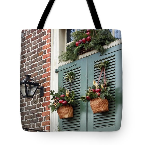 Christmas Welcome Tote Bag by Sally Weigand