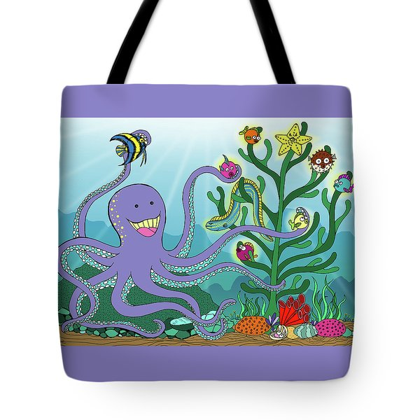 Christmas With The Octopus Tote Bag
