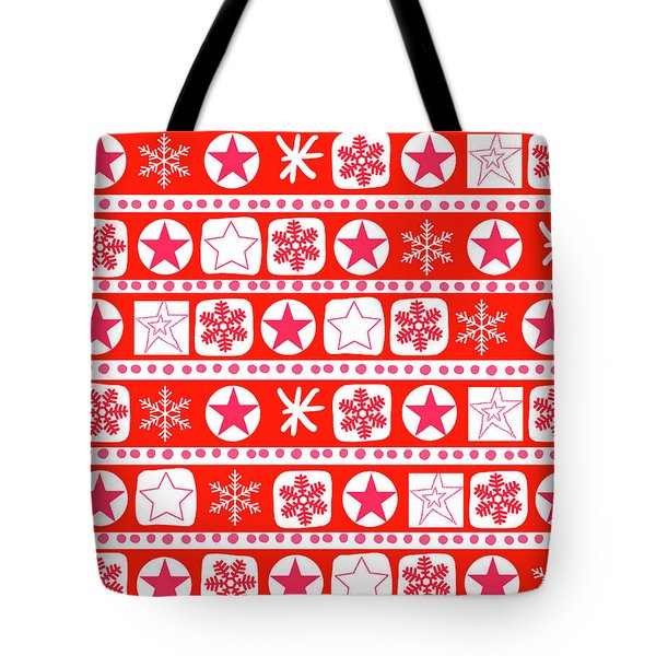 Christmas Wrap Stripe Tote Bag