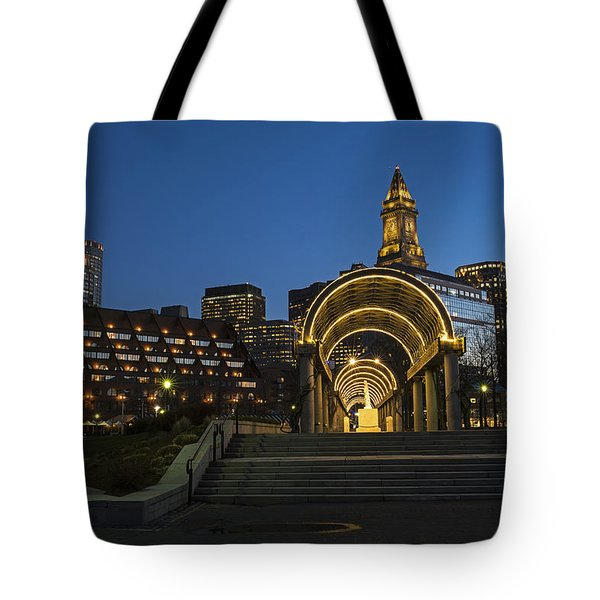 Christopher Columbus Park Boston Ma Trellis Custom House Tote Bag