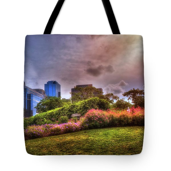 Tote Bag featuring the photograph Christopher Columbus Park - North End Boston by Joann Vitali