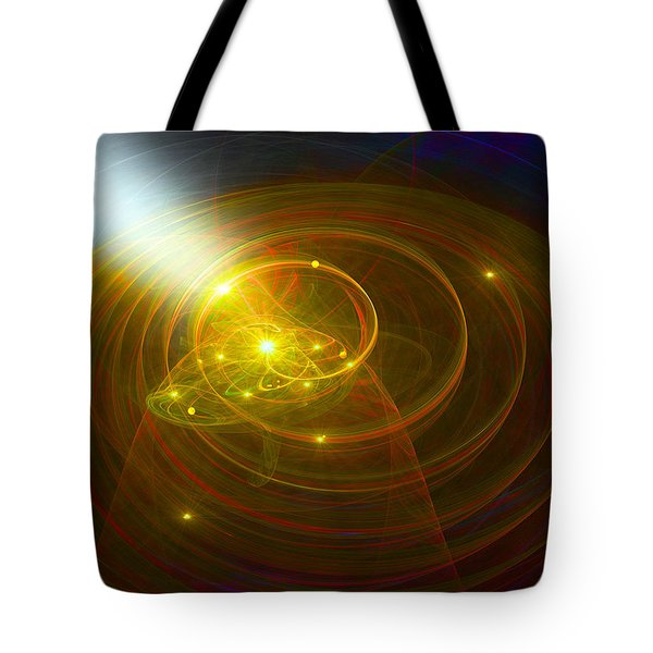 Christopher's Vision Of Golden Light Tote Bag