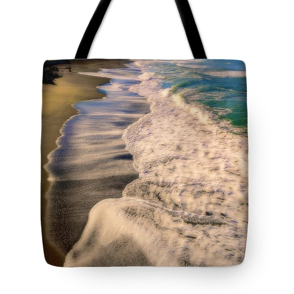 Chromatic Aberration At The Beach Tote Bag