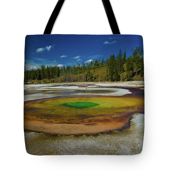 Tote Bag featuring the photograph Chromatic Pool by Roger Mullenhour