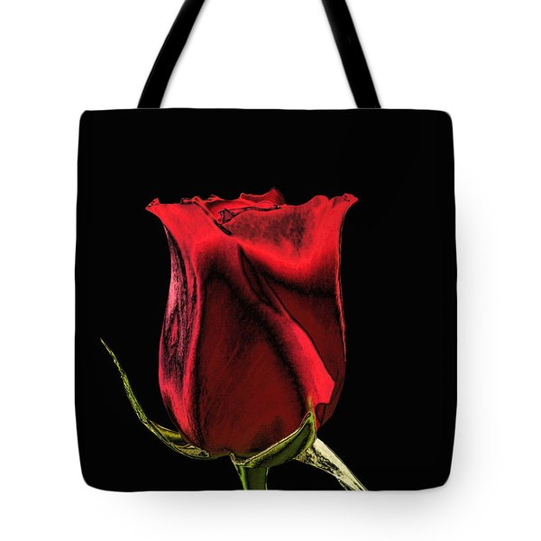 Chromatic Rosebud Tote Bag by Kristin Elmquist