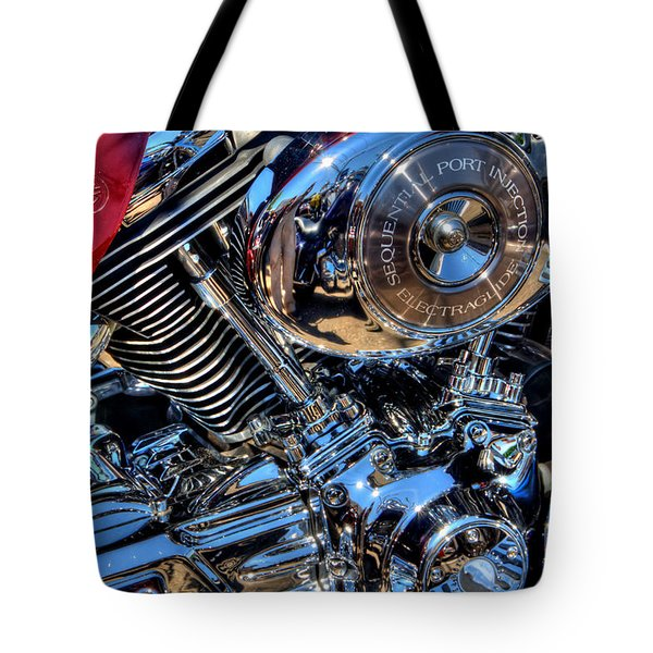 Tote Bag featuring the photograph Chrome by Adrian LaRoque