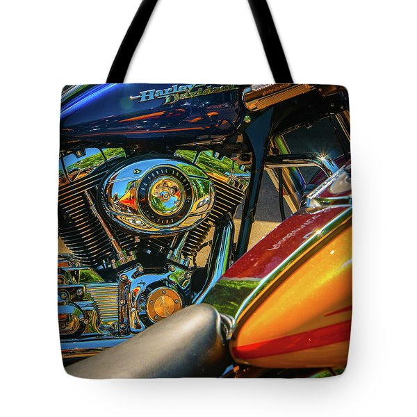 Tote Bag featuring the photograph Chrome And Color by Samuel M Purvis III