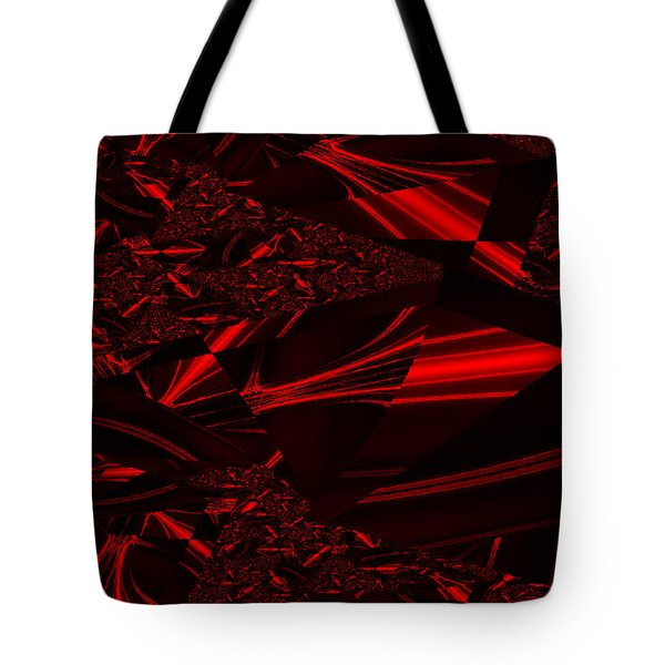 Chrome In Red Tote Bag by Clayton Bruster