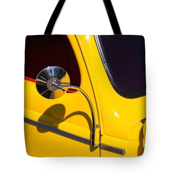 Chrome Mirrored To Yellow Tote Bag
