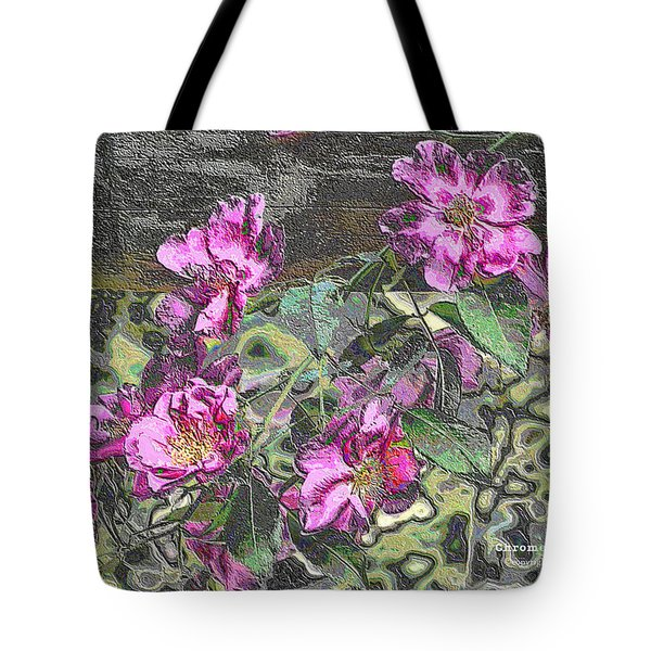 Chrome Roses 2666 Tote Bag