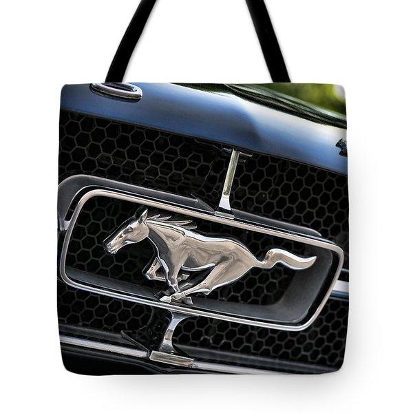 Chrome Stallion - Ford Mustang Tote Bag by Gordon Dean II