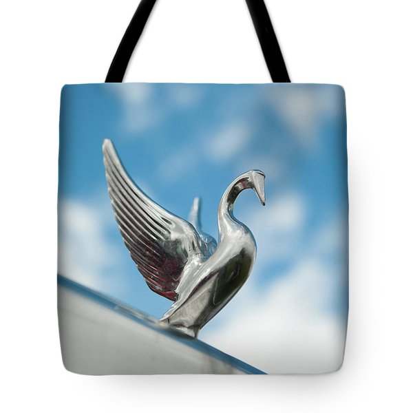 Chrome Swan Tote Bag
