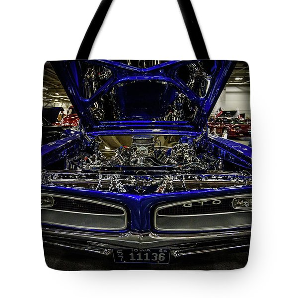 Tote Bag featuring the photograph Chromed Goat by Randy Scherkenbach