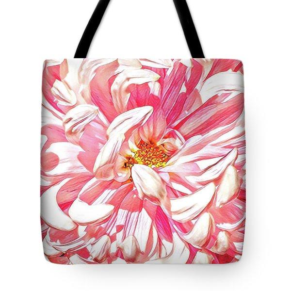 Chrysanthemum In Pink Tote Bag