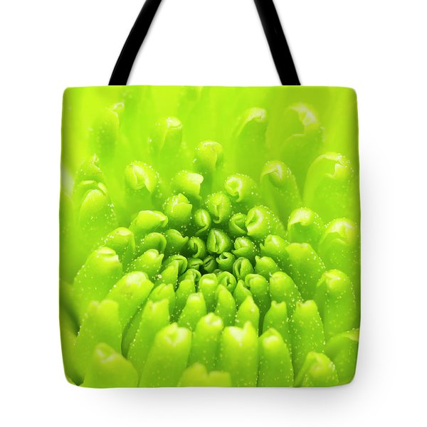 Chrysanthemum Macro Tote Bag by Wim Lanclus