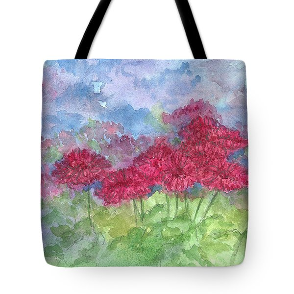 Tote Bag featuring the painting Chrysanthemums by Cathie Richardson