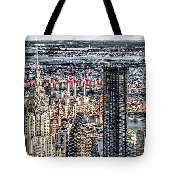Chrysler Building And Other Stories Tote Bag by Rafael Quirindongo