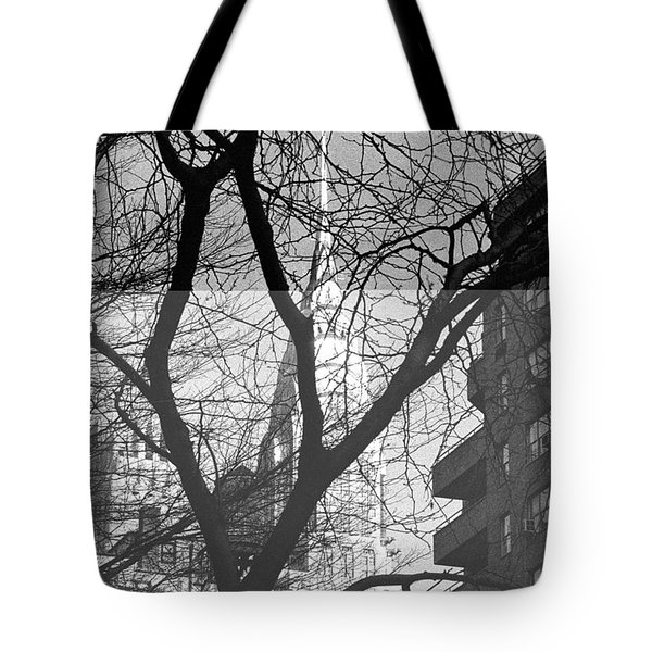 Tote Bag featuring the photograph Chrysler Building And Tree by Dave Beckerman