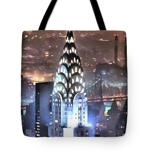 Chrysler Building At Night Tote Bag