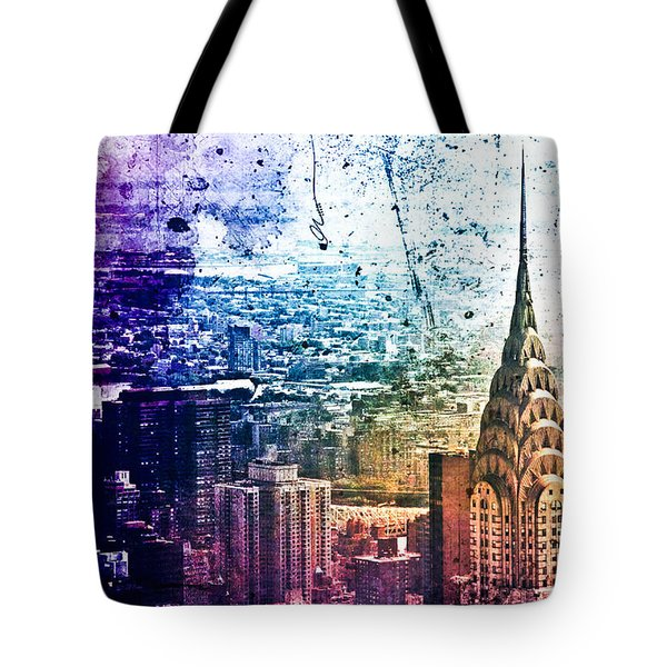 Chrysler Building - Colorful - New York City Tote Bag by Vivienne Gucwa