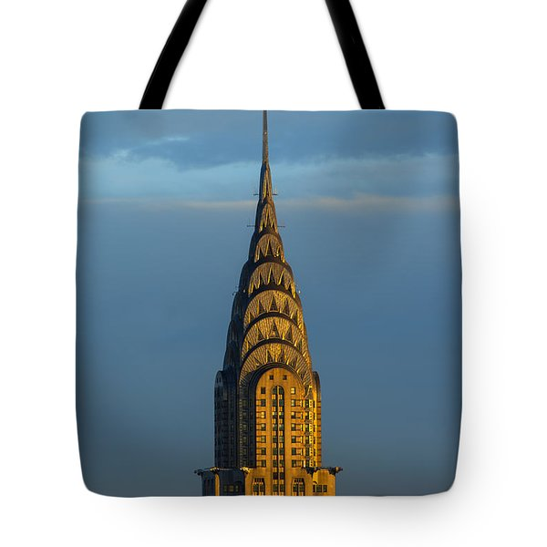 Chrysler Building In The Evening Light Tote Bag