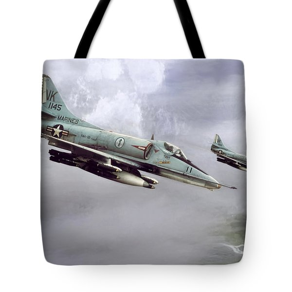 Chu Lai Skyhawks Tote Bag by Peter Chilelli