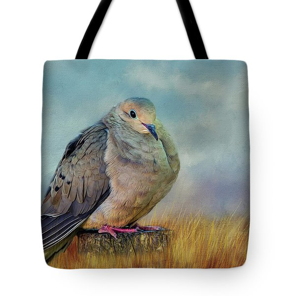 Chubby Dove Tote Bag