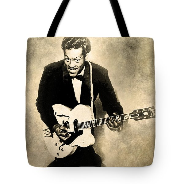 Tote Bag featuring the digital art Chuck Berry by Anthony Murphy