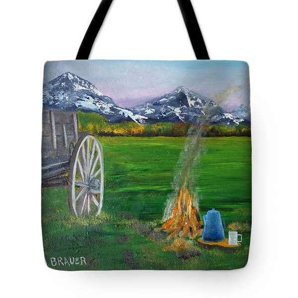 Chuck Wagon Tote Bag by Jack G  Brauer