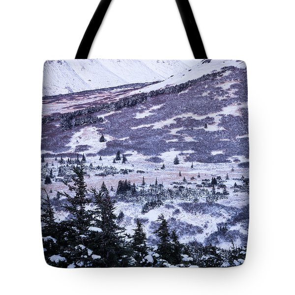 Chugach In Alpenglow Tote Bag