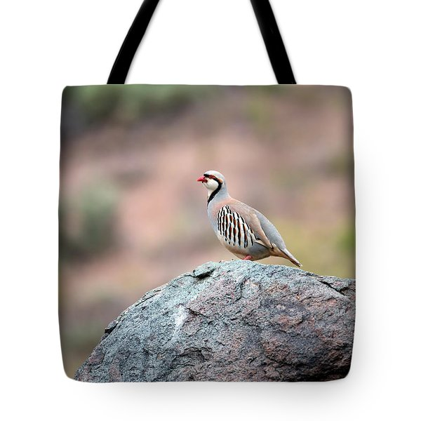 Chukar Partridge 2 Tote Bag by Leland D Howard
