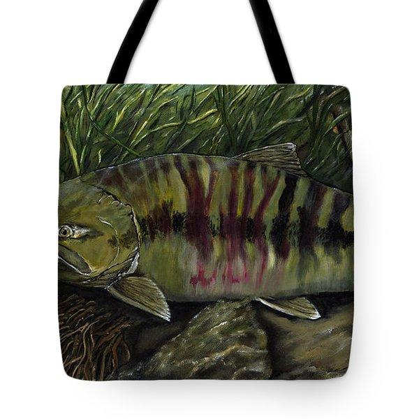 Chum Salmon Tote Bag