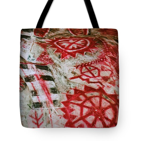 Tote Bag featuring the photograph Chumash Painted Cave State Historic Park by Kyle Hanson