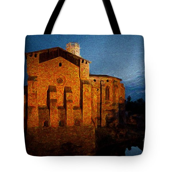 Tote Bag featuring the photograph Church 1 by Jean Bernard Roussilhe