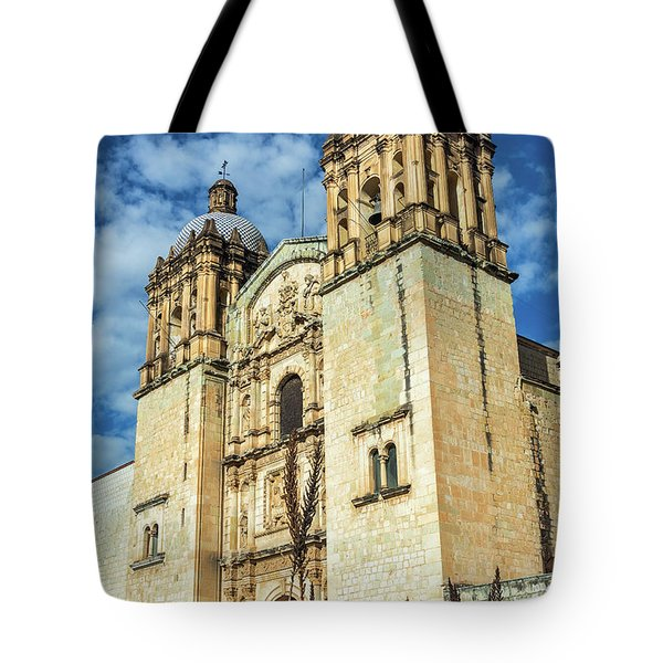 Church And Agave Plants Tote Bag