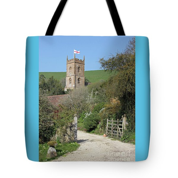 Church And The Flag Tote Bag by Linda Prewer