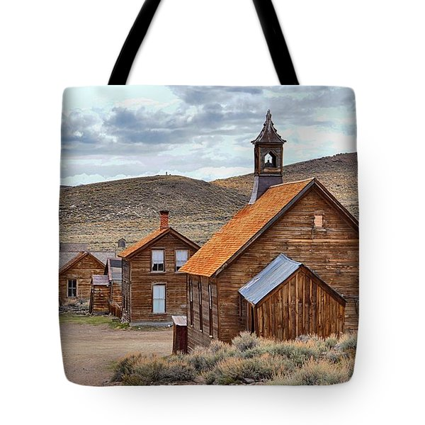 Church At Bodie Ghost Town Tote Bag
