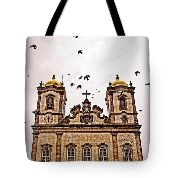 Tote Bag featuring the photograph Church Birds by Kim Wilson