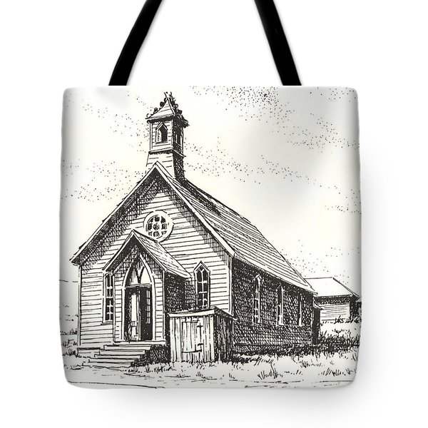 Church Bodie Ghost Town California Tote Bag by Kevin Heaney