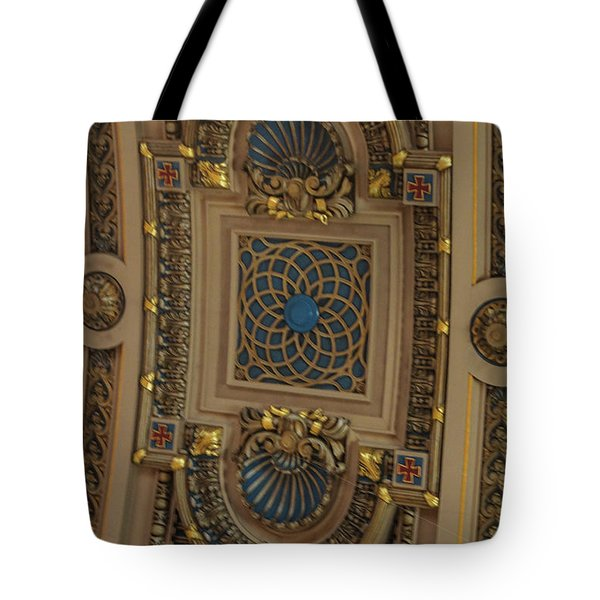 Church Ceiling Tote Bag