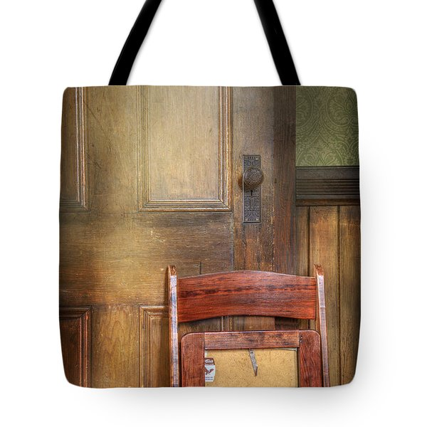 Church Chair Tote Bag by Craig J Satterlee