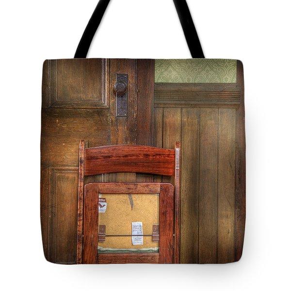 Church Chair II Tote Bag by Craig J Satterlee