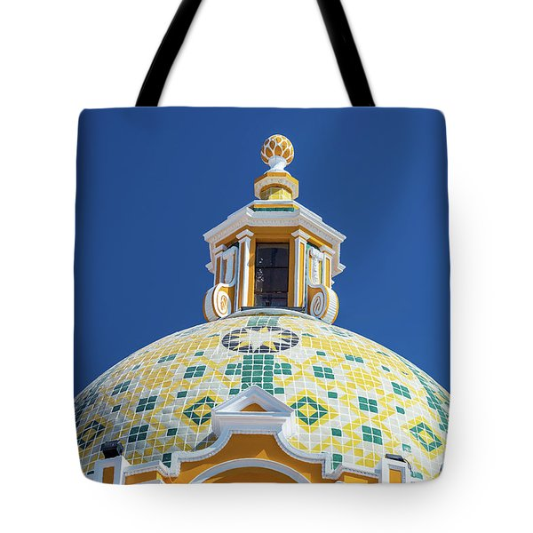 Church Dome And Blue Sky Tote Bag