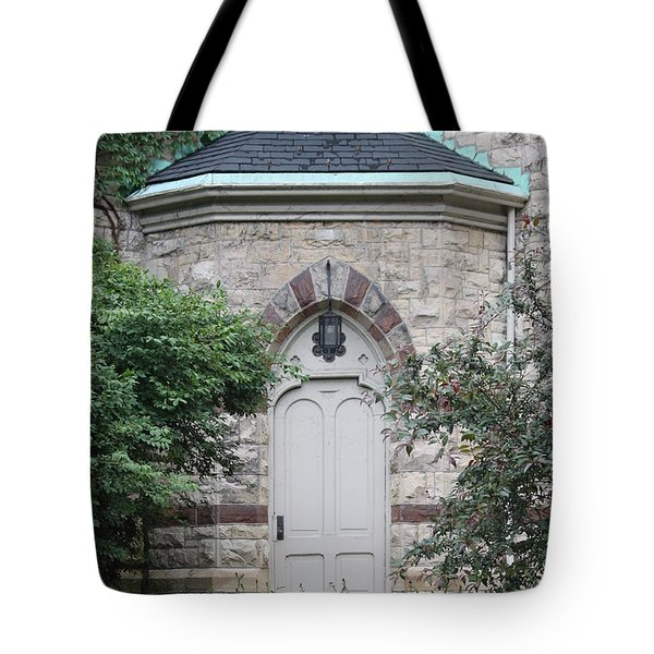 Church Door Tote Bag by Lauri Novak