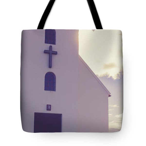 Tote Bag featuring the photograph Church Iceland by Edward Fielding