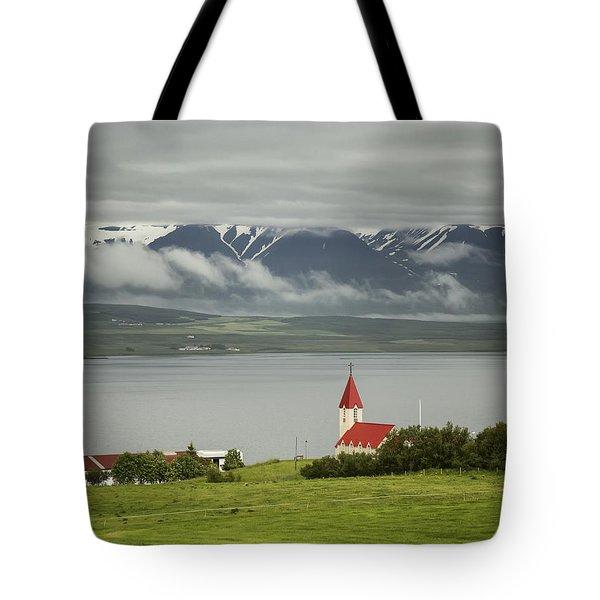 Church In Akureyri Tote Bag